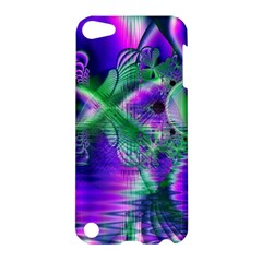 Evening Crystal Primrose, Abstract Night Flowers Apple iPod Touch 5 Hardshell Case