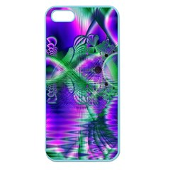 Evening Crystal Primrose, Abstract Night Flowers Apple Seamless iPhone 5 Case (Color)