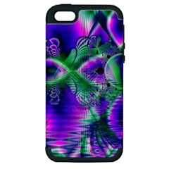 Evening Crystal Primrose, Abstract Night Flowers Apple Iphone 5 Hardshell Case (pc+silicone)