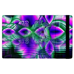Evening Crystal Primrose, Abstract Night Flowers Apple iPad 3/4 Flip Case
