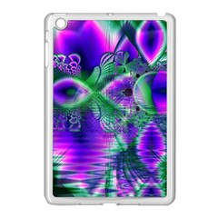 Evening Crystal Primrose, Abstract Night Flowers Apple iPad Mini Case (White)