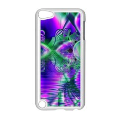 Evening Crystal Primrose, Abstract Night Flowers Apple iPod Touch 5 Case (White)