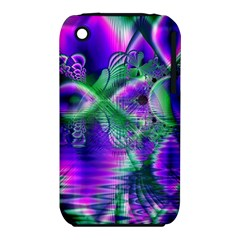 Evening Crystal Primrose, Abstract Night Flowers Apple Iphone 3g/3gs Hardshell Case (pc+silicone)