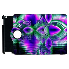 Evening Crystal Primrose, Abstract Night Flowers Apple Ipad 2 Flip 360 Case