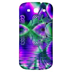 Evening Crystal Primrose, Abstract Night Flowers Samsung Galaxy S3 S III Classic Hardshell Back Case
