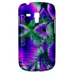 Evening Crystal Primrose, Abstract Night Flowers Samsung Galaxy S3 Mini I8190 Hardshell Case