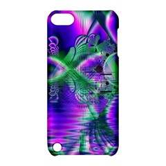 Evening Crystal Primrose, Abstract Night Flowers Apple iPod Touch 5 Hardshell Case with Stand