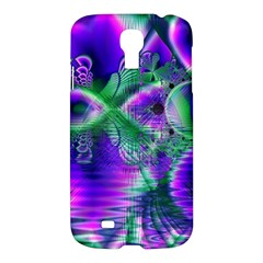 Evening Crystal Primrose, Abstract Night Flowers Samsung Galaxy S4 I9500/i9505 Hardshell Case