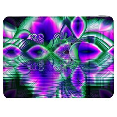 Evening Crystal Primrose, Abstract Night Flowers Samsung Galaxy Tab 7  P1000 Flip Case
