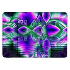 Evening Crystal Primrose, Abstract Night Flowers Samsung Galaxy Tab 8 9  P7300 Flip Case