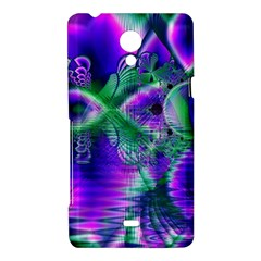 Evening Crystal Primrose, Abstract Night Flowers Sony Xperia T Hardshell Case