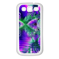 Evening Crystal Primrose, Abstract Night Flowers Samsung Galaxy S3 Back Case (White)