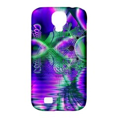 Evening Crystal Primrose, Abstract Night Flowers Samsung Galaxy S4 Classic Hardshell Case (PC+Silicone)