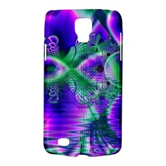 Evening Crystal Primrose, Abstract Night Flowers Samsung Galaxy S4 Active (I9295) Hardshell Case