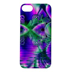 Evening Crystal Primrose, Abstract Night Flowers Apple iPhone 5S Hardshell Case