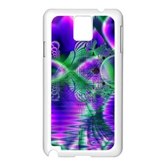 Evening Crystal Primrose, Abstract Night Flowers Samsung Galaxy Note 3 N9005 Case (White)