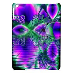 Evening Crystal Primrose, Abstract Night Flowers Apple iPad Air Hardshell Case