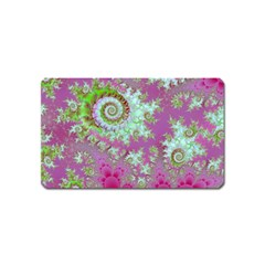 Raspberry Lime Surprise, Abstract Sea Garden  Magnet (Name Card)