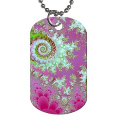 Raspberry Lime Surprise, Abstract Sea Garden  Dog Tag (One Sided)