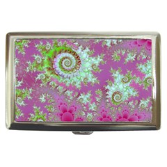 Raspberry Lime Surprise, Abstract Sea Garden  Cigarette Money Case