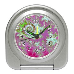 Raspberry Lime Surprise, Abstract Sea Garden  Desk Alarm Clock