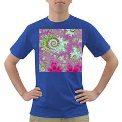 Raspberry Lime Surprise, Abstract Sea Garden  Men s T-shirt (Colored)