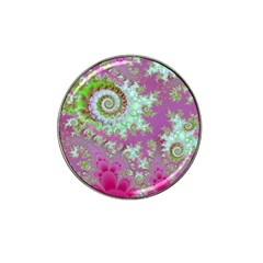 Raspberry Lime Surprise, Abstract Sea Garden  Golf Ball Marker 4 Pack (for Hat Clip)