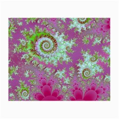 Raspberry Lime Surprise, Abstract Sea Garden  Glasses Cloth (Small)