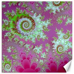 Raspberry Lime Surprise, Abstract Sea Garden  Canvas 16  x 16  (Unframed)