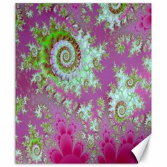 Raspberry Lime Surprise, Abstract Sea Garden  Canvas 20  X 24  (unframed)