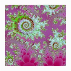 Raspberry Lime Surprise, Abstract Sea Garden  Glasses Cloth (Medium, Two Sided)