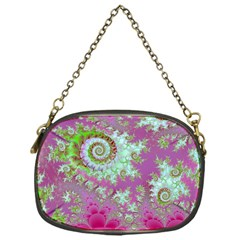 Raspberry Lime Surprise, Abstract Sea Garden  Chain Purse (one Side)