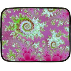 Raspberry Lime Surprise, Abstract Sea Garden  Mini Fleece Blanket (Two Sided)