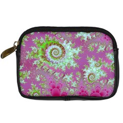 Raspberry Lime Surprise, Abstract Sea Garden  Digital Camera Leather Case