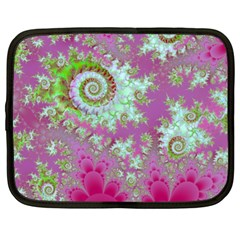 Raspberry Lime Surprise, Abstract Sea Garden  Netbook Sleeve (XL)