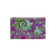 Raspberry Lime Surprise, Abstract Sea Garden  Cosmetic Bag (Small)