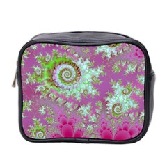 Raspberry Lime Surprise, Abstract Sea Garden  Mini Travel Toiletry Bag (Two Sides)