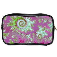 Raspberry Lime Surprise, Abstract Sea Garden  Travel Toiletry Bag (two Sides)