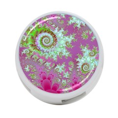 Raspberry Lime Surprise, Abstract Sea Garden  4-Port USB Hub (One Side)