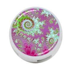 Raspberry Lime Surprise, Abstract Sea Garden  4 Port Usb Hub (two Sides)