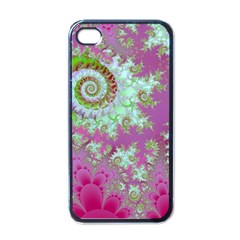 Raspberry Lime Surprise, Abstract Sea Garden  Apple Iphone 4 Case (black)