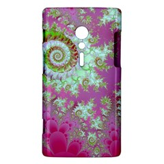 Raspberry Lime Surprise, Abstract Sea Garden  Sony Xperia ion Hardshell Case