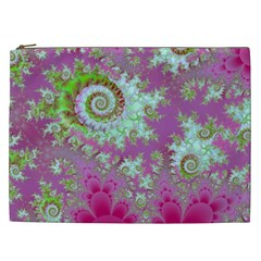 Raspberry Lime Surprise, Abstract Sea Garden  Cosmetic Bag (XXL)