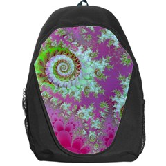 Raspberry Lime Surprise, Abstract Sea Garden  Backpack Bag