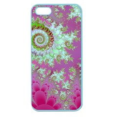 Raspberry Lime Surprise, Abstract Sea Garden  Apple Seamless iPhone 5 Case (Color)