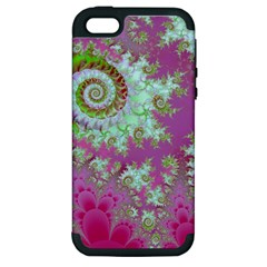 Raspberry Lime Surprise, Abstract Sea Garden  Apple iPhone 5 Hardshell Case (PC+Silicone)