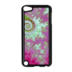 Raspberry Lime Surprise, Abstract Sea Garden  Apple iPod Touch 5 Case (Black)