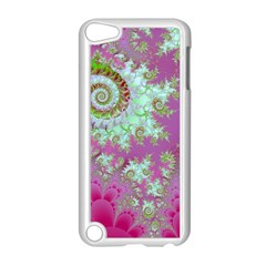 Raspberry Lime Surprise, Abstract Sea Garden  Apple Ipod Touch 5 Case (white)