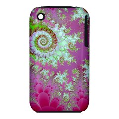 Raspberry Lime Surprise, Abstract Sea Garden  Apple iPhone 3G/3GS Hardshell Case (PC+Silicone)