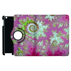 Raspberry Lime Surprise, Abstract Sea Garden  Apple iPad 3/4 Flip 360 Case